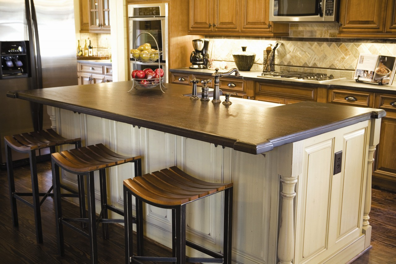 Kitchen Base Cabinets With Countertop 15 Ideas For Wooden Base Stools In Kitchen And Bar Decor