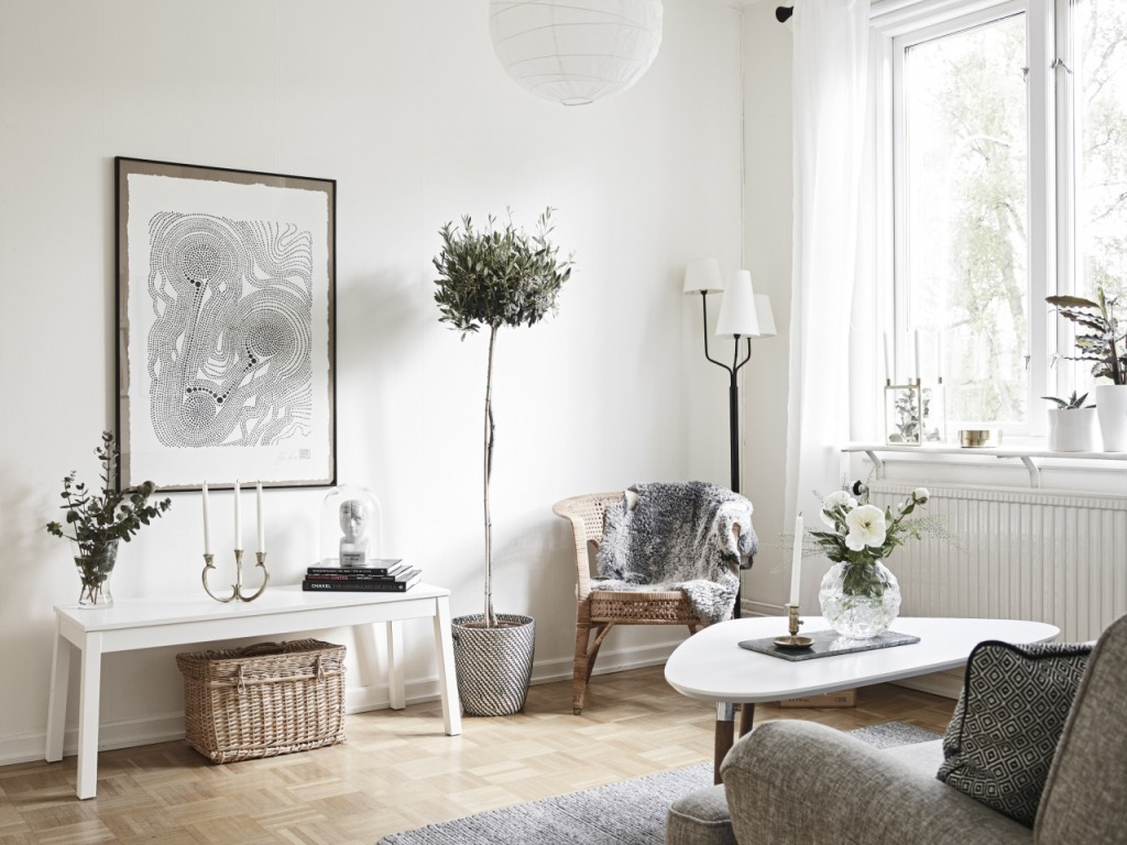 Corner Lamps For Living Room Creative Scandinavian Home Interior Combined With Plants Decor