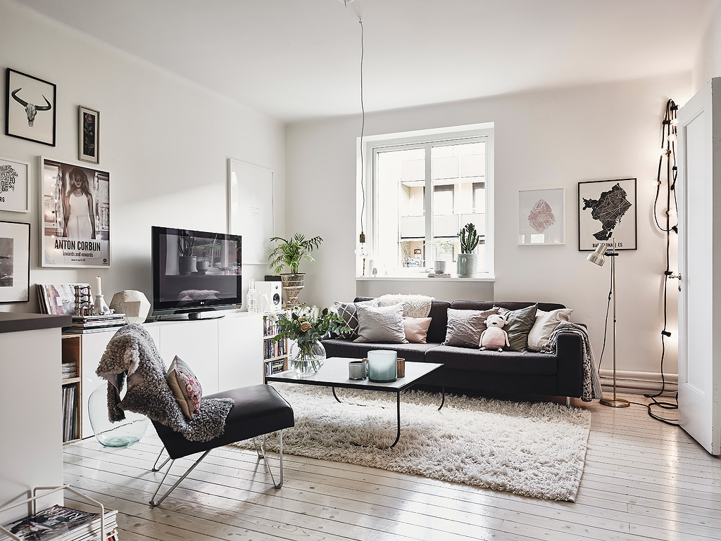 Scandinavian Style Living Room Scandinavian Interior Apartment With Mix Of Gray Tones