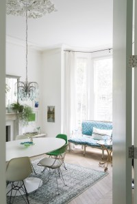 Mix of White & Green Victorian Style House in London