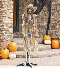 Skeleton Door & Printable Skeleton Halloween Decoration