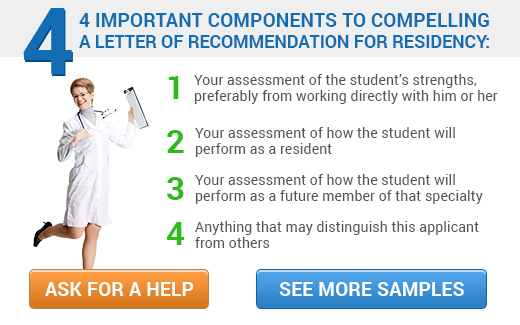 Sample Letter of Recommendation for Residency - sample school recommendation letter