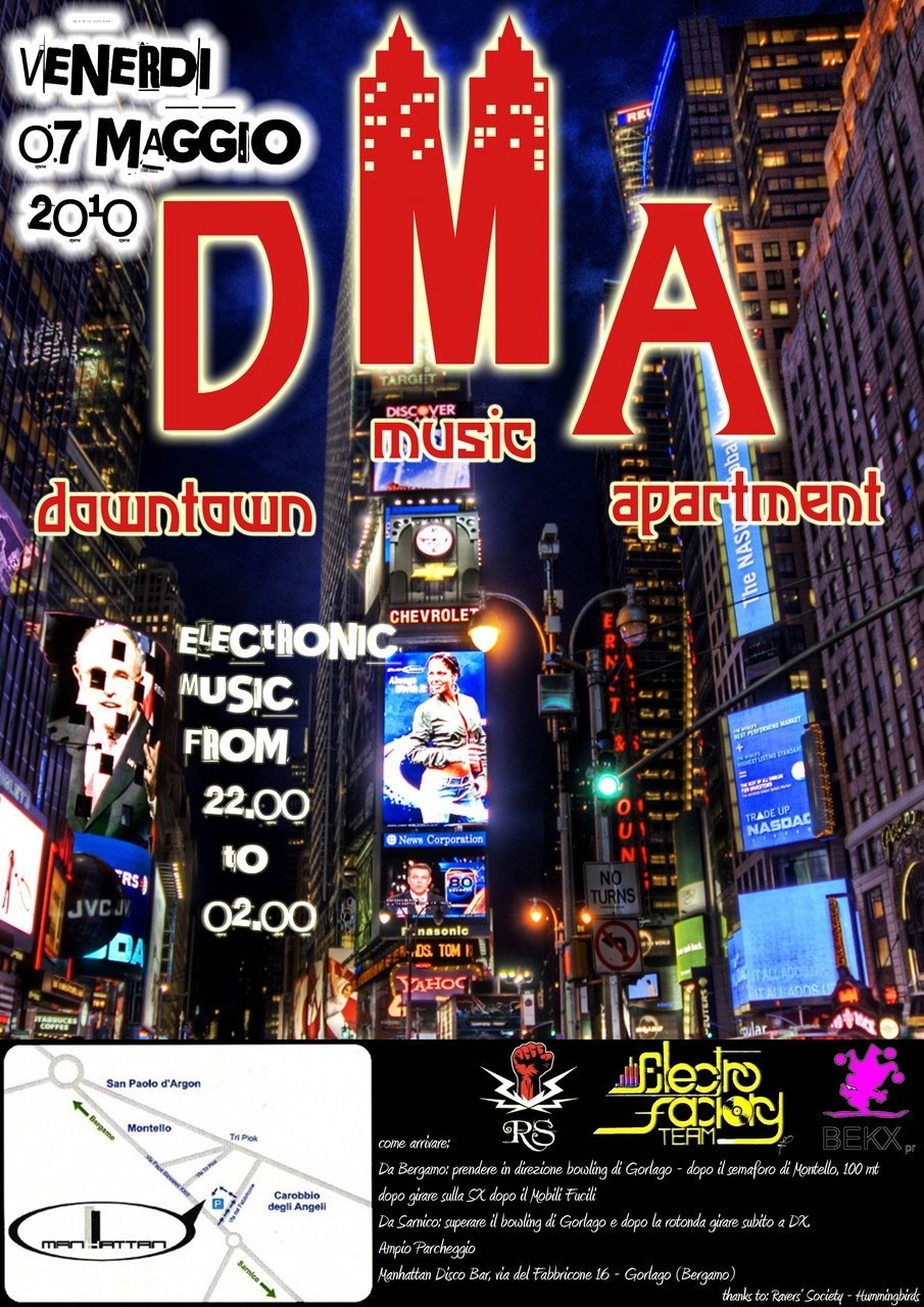 Mobili Fucili Ra Dma Downtown Music Apartment At Manhattan Discobar North 2010