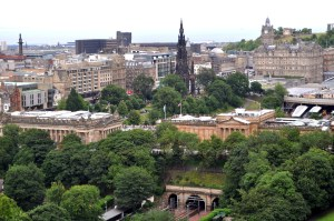 Driving through narrow streets of Edinburgh is a challenge, especially after an all-night flight.
