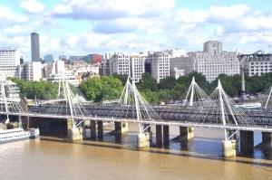 The Millennium Bridge as seen from the London Eye