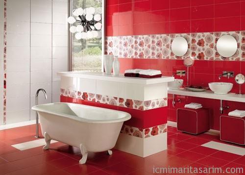 Parlak Ve Renkli Banyo Tasarım Fikirleri (5)