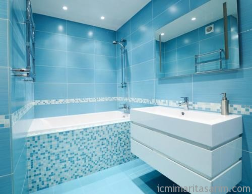 Parlak Ve Renkli Banyo Tasarım Fikirleri (9)