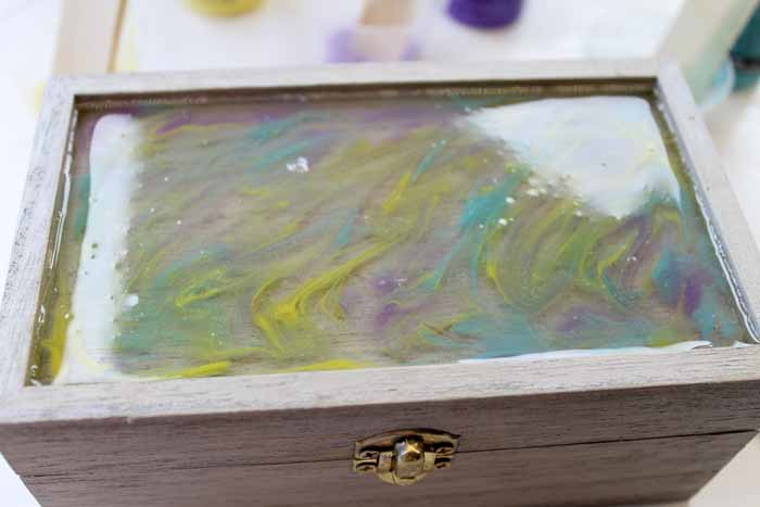Marbled Resin Jewelry Box Resin Crafts