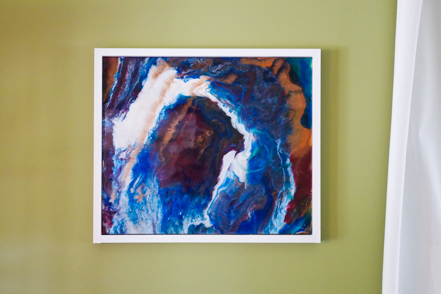 DIY Colorful Poured Resin Wall Art - Resin Crafts