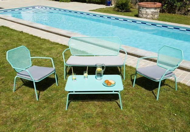 Banc Exterieur Unopiu   Table En Fer De Jardin. Free Table Verre Et ...