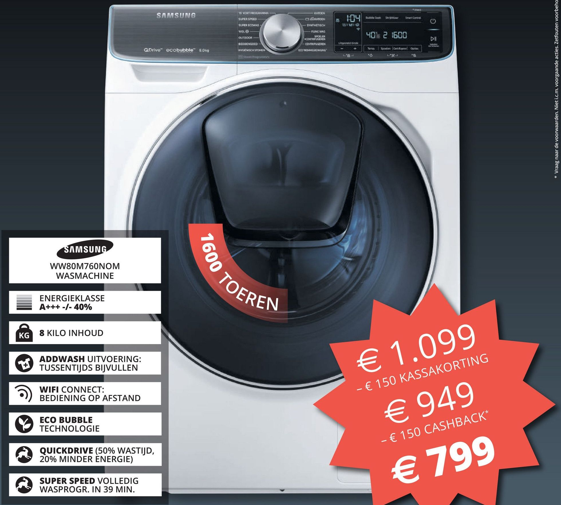 Wasmachine Actie Samsung Wasmachine Eco Bubble Cashback Information And Ideas