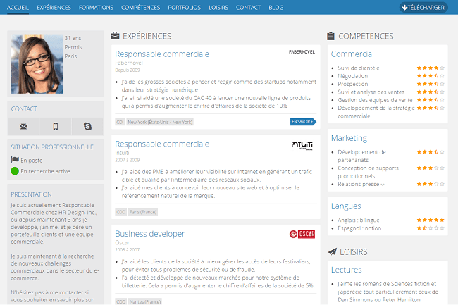 creer un cv community manager