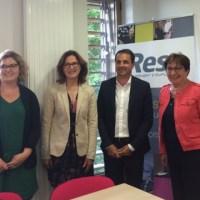 Martine Pinville, secrétaire d'Etat rend visite à Reso