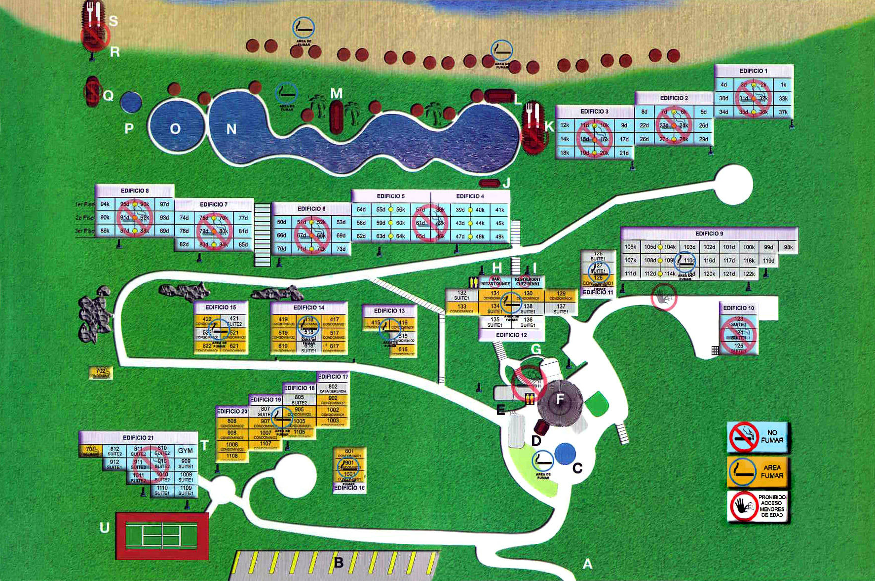 Camino Real Zaashila Hotel Map Resort Map Camino Real Zaashila Huatulco Mexico