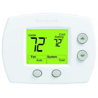 Honeywell Programmable Thermostat Honeywell Focuspro 5000 Series 1 Heat 1 Cool Non