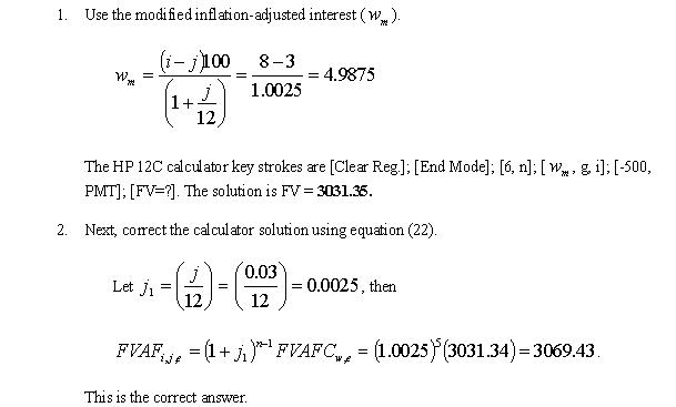 Journal Derived Corrections to Calculator Solutions for Certain - annuity equation