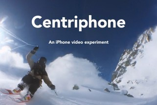 This Guy Swung His iPhone Around on a String to Get Incredible Video of Himself Skiing
