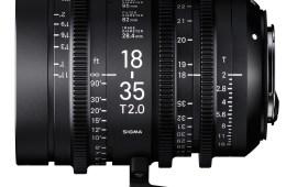 Sigma Announces Cinema Lens Line 18-35mm T2.0