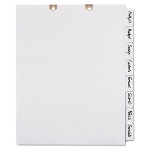 Avery Big Tab Write-On Classification Folder Dividers AVE13161 - folder dividers tabs