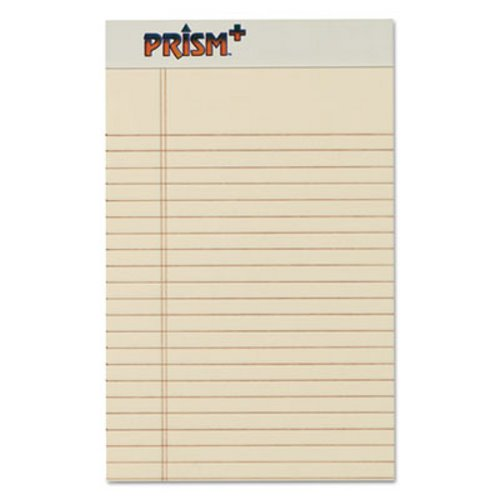 Tops Prism Plus Colored Jr Legal Writing Pads, 5 x 8, Ivory, 50 - colored writing paper