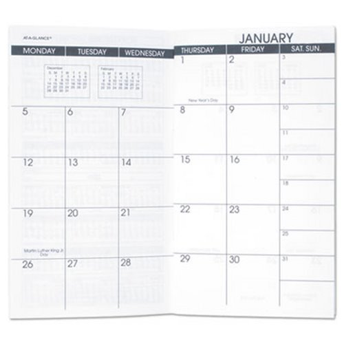 At-A-Glance Pocket Size Monthly Planner Refill AAG7090610