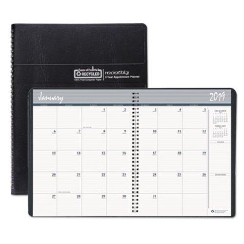 Doolittle Monthly 2 Year Planner, 8-1/2 x 11, Black HOD262002