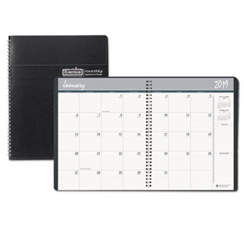 Doolittle Monthly Planner Expense Log, 14-Month, Black HOD26802