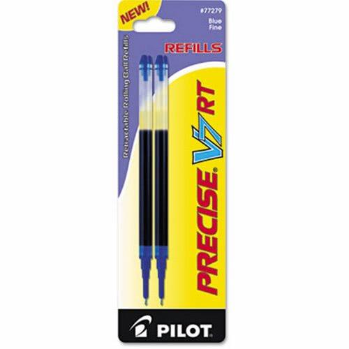 Pilot Refill for Precise V7 RT Rolling Ball, Fine, Blue Ink, 2/Pack - ball office supplies
