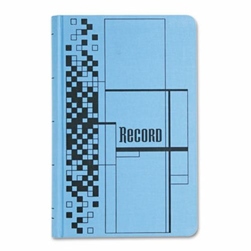 Adams Business Forms Record Ledger Book, Blue Cloth Cover, 500 7 1/2