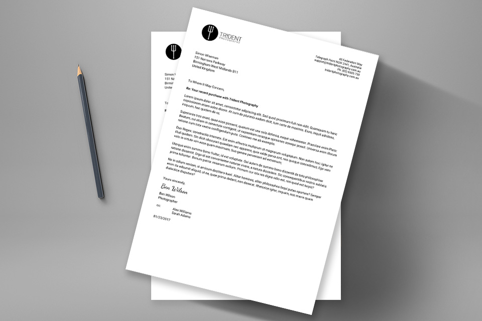 Business Letter #1 \u2013 A business letter Gravity PDF