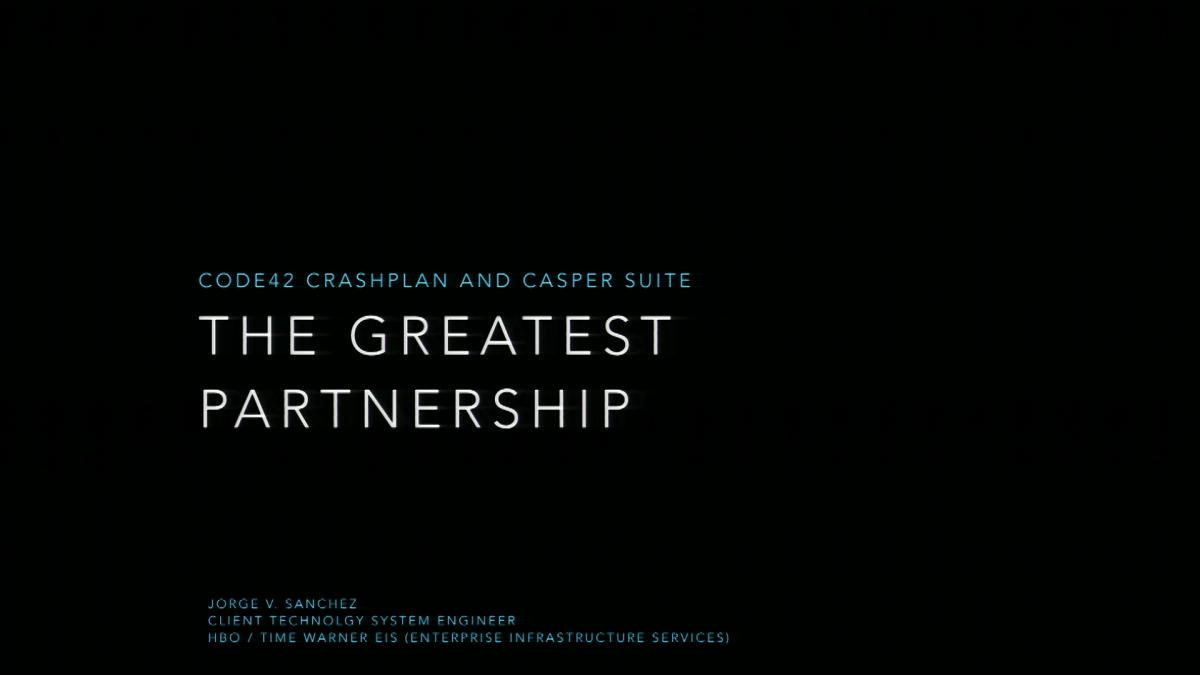 Code42 CrashPlan and the Casper Suite: The Greatest Partnership ...