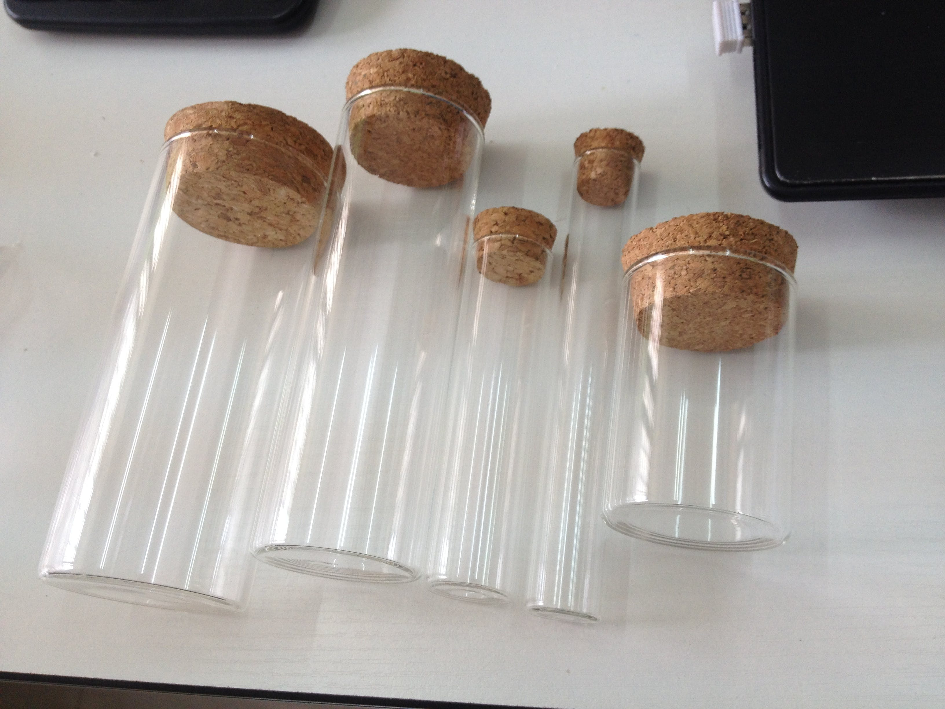 Cork Jar Borosilicate Glass Jars And Glass Tubes With Cork Lids