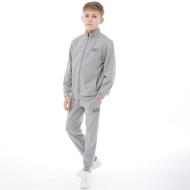 Fleece Light Hoody M Buy Ea7 Boys Jogger Tracksuit Set Medium Grey