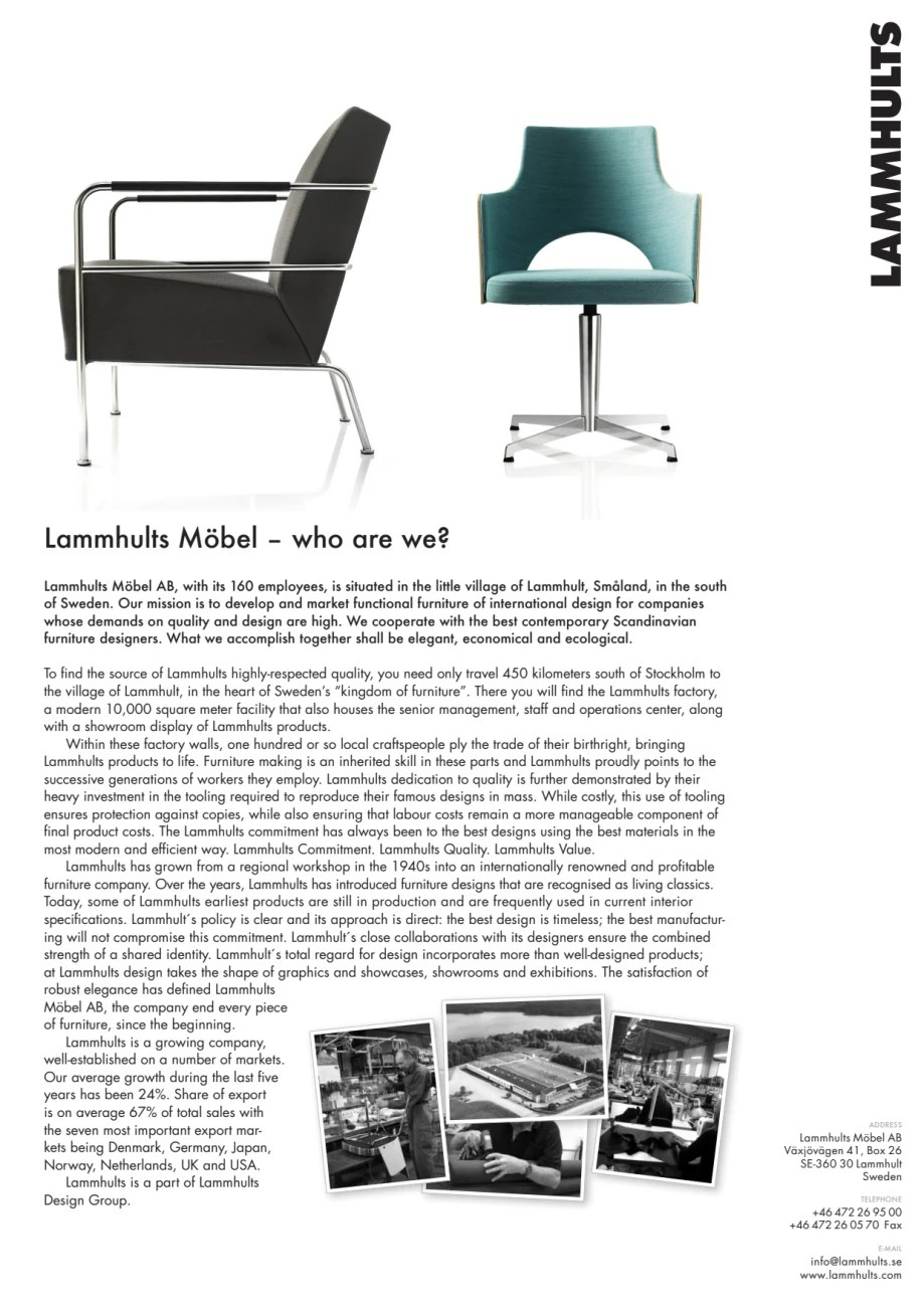 Scandinavian Möbel Lammhults Möbel Who Are We Lammhults Möbel Ab