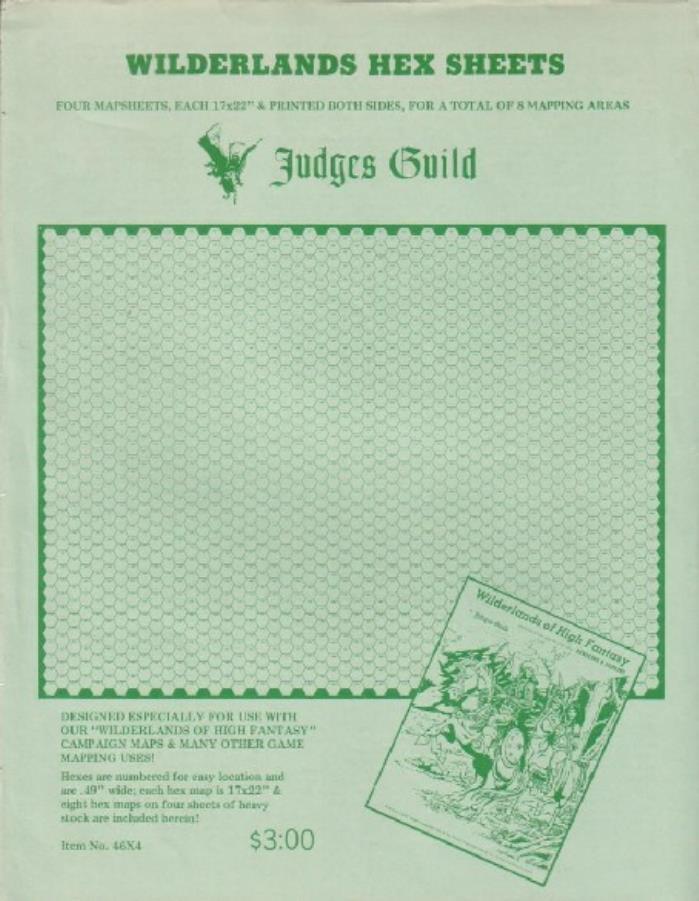 Wilderlands Hex Sheets - DD Module - Noble Knight Games