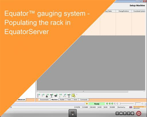 Training module Equator gauging system - Populating the rack in