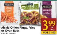 Alexia Onion Rings - Fries or Oven on sale | Salewhale.ca