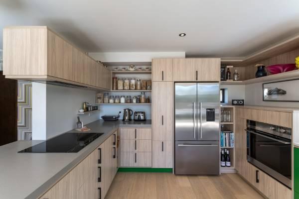 Colourful design response for leading designer\u0027s own kitchen