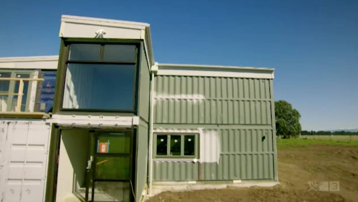 Container Haus Villa Grand Designs Nz Shipping Container House Proves Ambitious