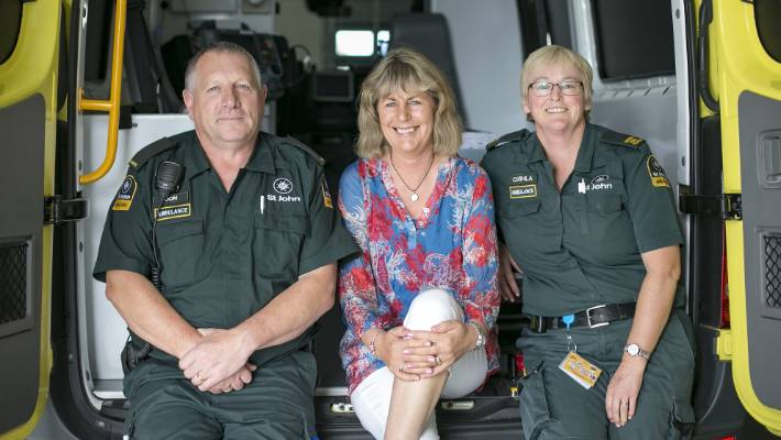 Paramedic who suffered heart attack on the job takes part in