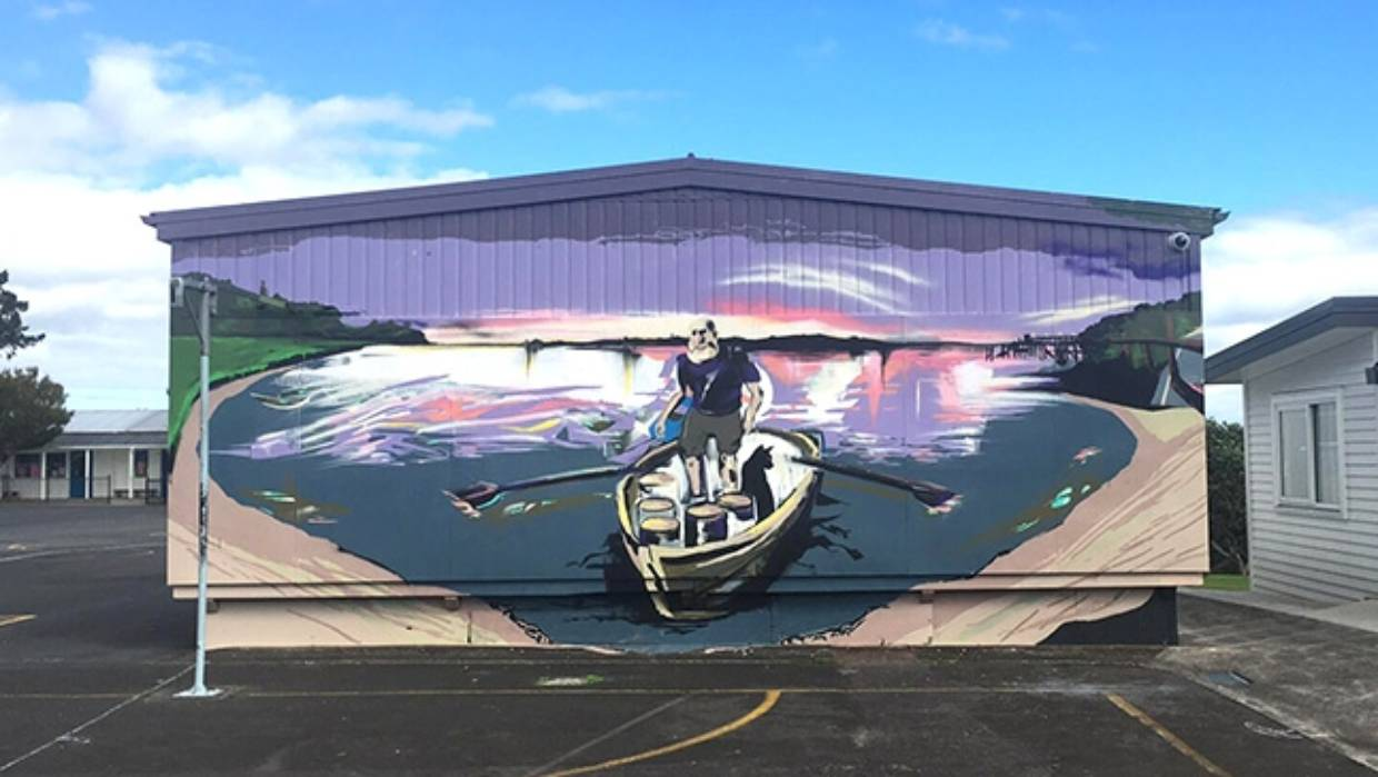 Garage Art Nz In Pictures Auckland Street Artist Ares Artifex Brightens Up The