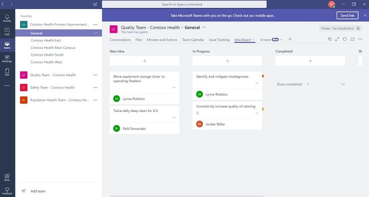 New templates to create huddle solutions in Microsoft Teams and
