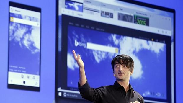 Microsoft's Joe Belfiore showed off how your phone will be running the same Windows.