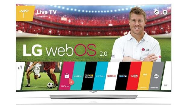 Smart telly ... LG's 4K OLED televisions feature smart TV apps delivered using WebOS 2.0
