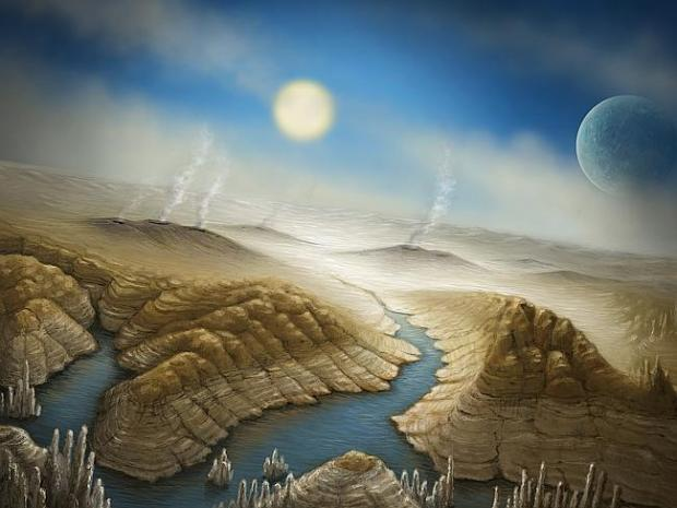 Artist impression of the surface of Kepler 452b created by the SETI institute, who have b