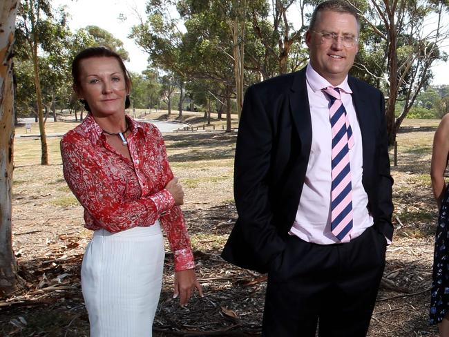 """Education group"": Debbie Robinson, left, and Andrew Horwood. Picture: News Corp Austarli"
