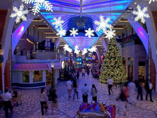 Royal Caribbean ship at Christmas