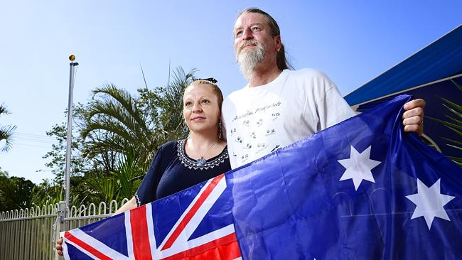 Stuart Park residents Julie Lucas and Paul Lucas were disgusted to be told to take down t