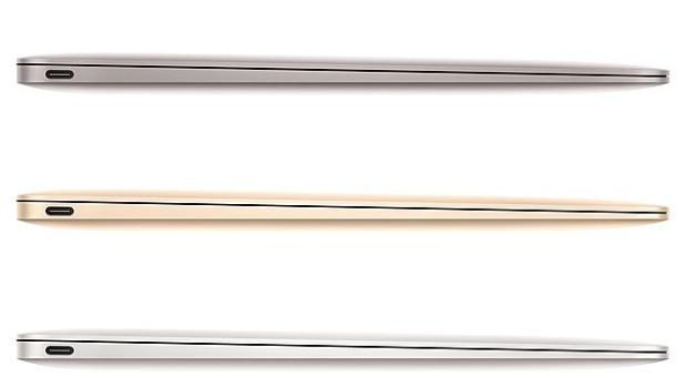 Thin but luxe ... Apple's new 12-inch MacBook comes in a gold hue.