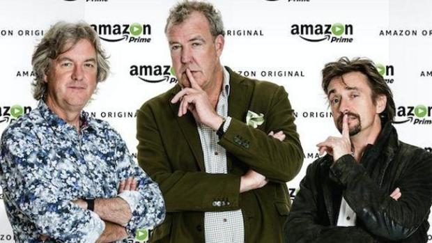 Clarkson, Hammond and May are no longer the BBC's most valuable property. Pic: Amazon.